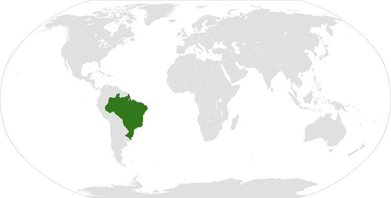 На каком материке находится Бразилия